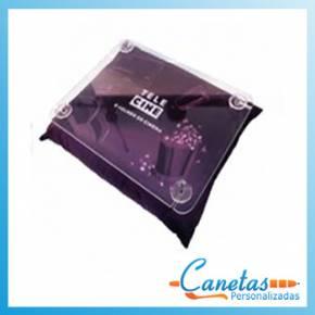 Almofada bandeja para notebook em acrílico
