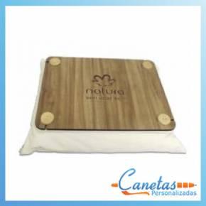 almofada bandeja de madeira
